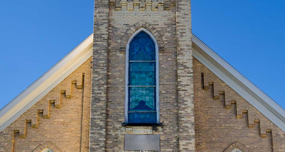 St. Martin's Church Original Stained-glass Window