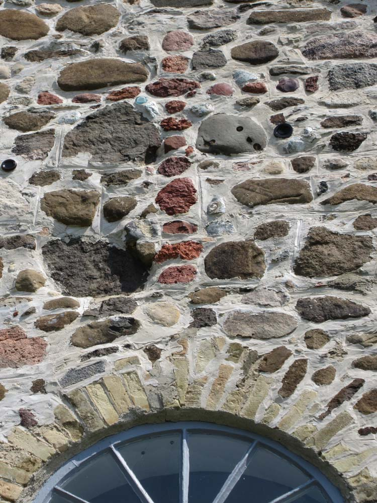 Saint Peter's Church Front Fieldstone Wall