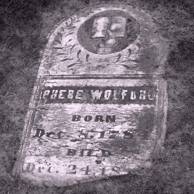Phebe Wolford Gravestone Orchard Grove Cemetery