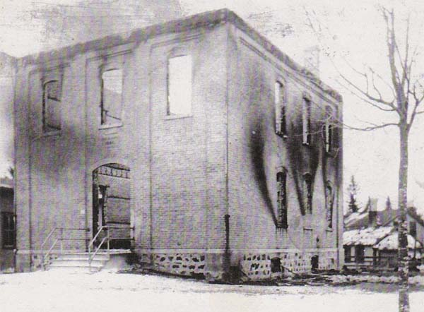 Burned Out Boltonville School 1913
