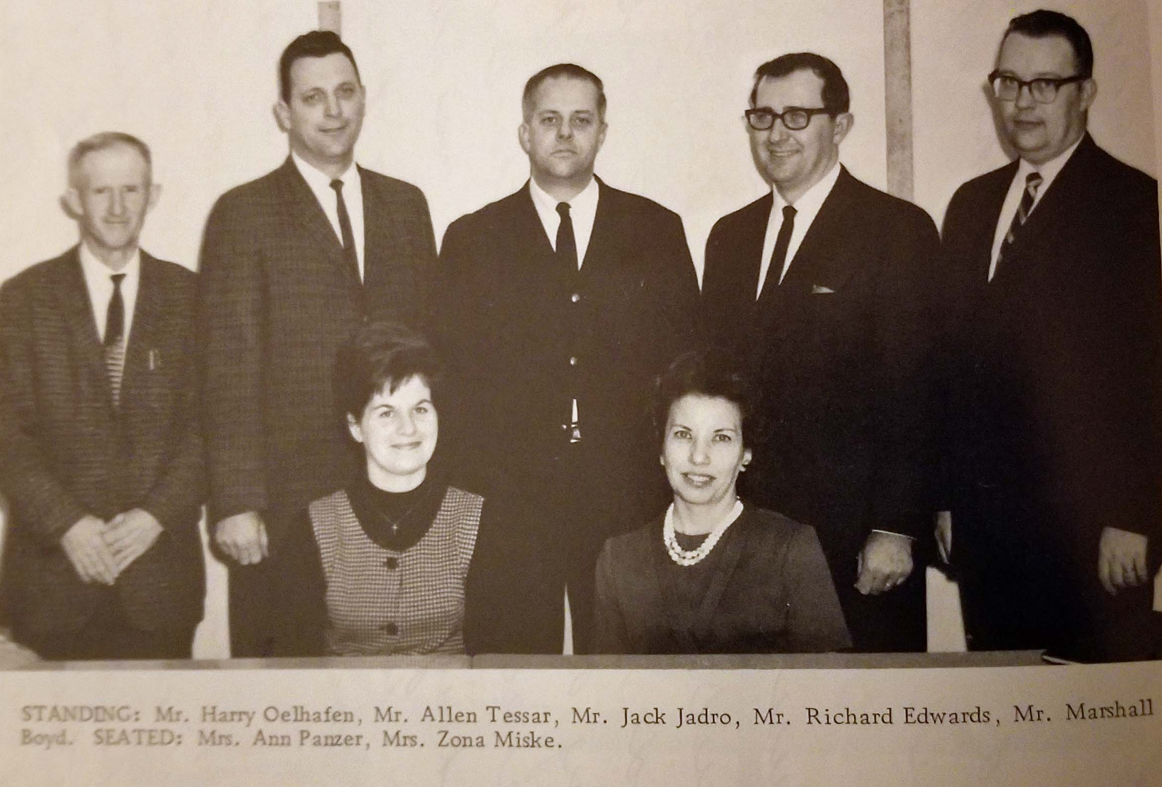 Kewaskum School Board, 1966.