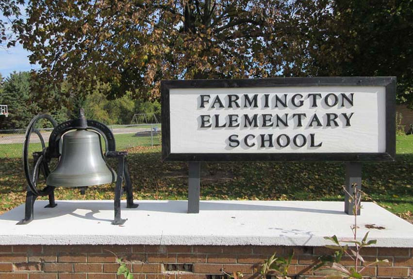 Old Fillmore School Bell at Farmington School 2019