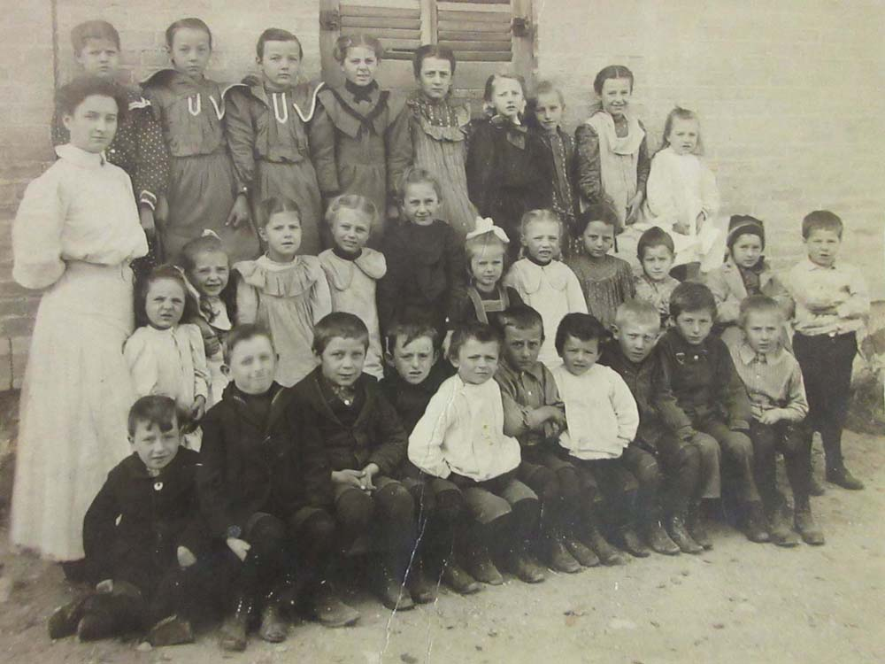 Teacher & Students Outside Fillmore School